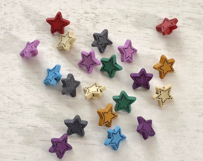 "Star Buttons, ""Tiny Stars"" #1602, Packaged Novelty Buttons, Assorted Colors, Style 1602 by Buttons Galore, Buttons, Crafts, Embellishments"