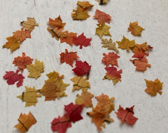 Miniature Leaves, Fall Colors, Dollhouse Miniature, 1:12 Scale, Mini Leaves, Fall Leaves, Autumn, Dollhouse Decor Accessory, Crafts