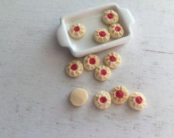 Miniature Cookies, Mini Shortbread Cookies, Set of 12, Dollhouse Miniature, 1:12 Scale, Miniature Food, Dollhouse Accessory, Decor, Crafts