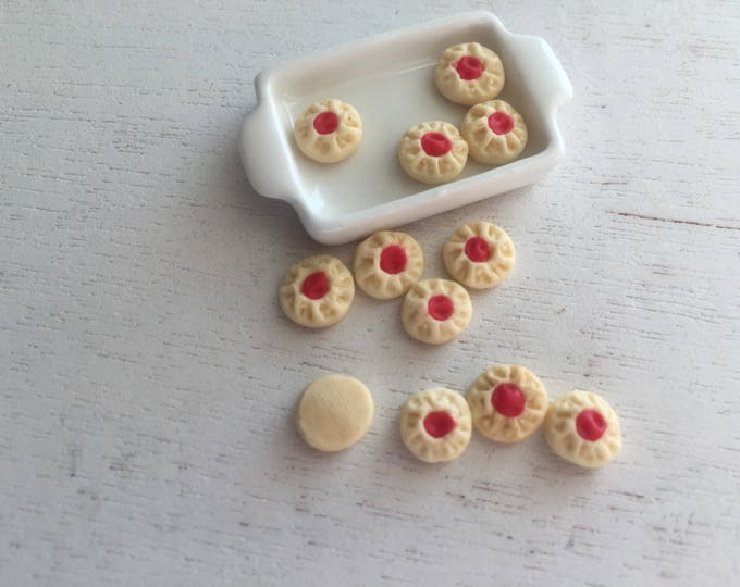 Miniature Cookies, Mini Shortbread Cookies, Set of 12, Dollhouse Miniature, 1:12 Scale, Miniature Food, Dollhouse Accessory, Decor, Crafts