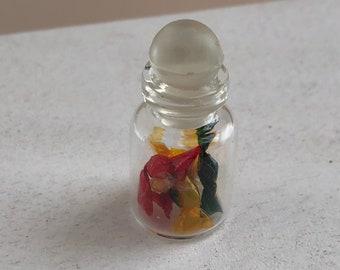Miniature Filled Jar, Glass Jar With Wrapped Candy in Jar #35, Dollhouse Miniature, 1:12 Scale, Mini Food, Dollhouse Food, Accessory, Decor