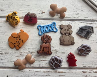 """Dog Themed Buttons, Packaged Novelty Buttons """"Dog Gone It"""" #4430 by Buttons Galore, Dogs, Bones, Paw Prints, Embellishments"""