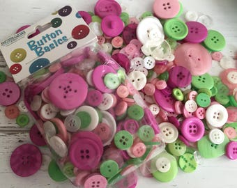 """Mixed Buttons, """"Contemporary Christmas"""" Shades, Packaged Round Button Assortment, 5 oz bag, #BCB153 by Buttons Galore, Sewing, Crafting"""