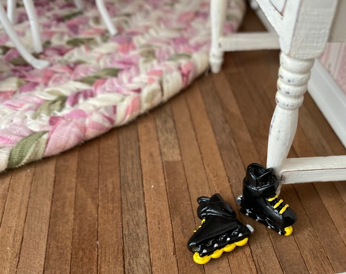 Miniature Roller Blades, Dollhouse Miniature, 1:12 Scale, Dollhouse Accessory, Shoes, Decor, Crafts