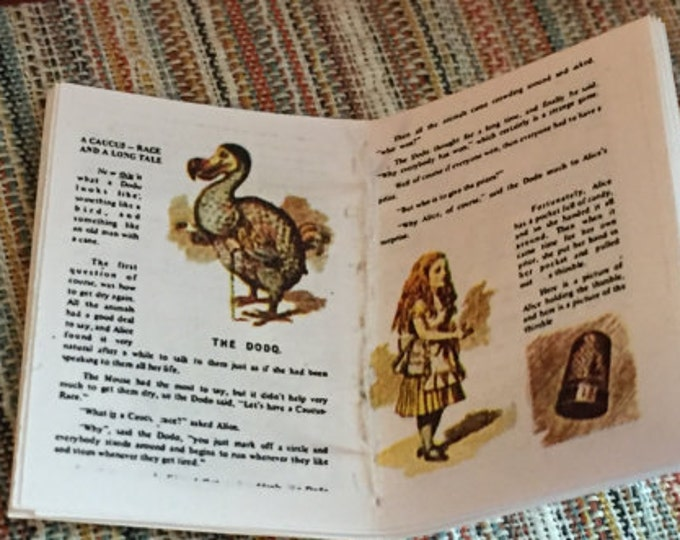 Miniature Children's Book, Alice Story Book, Readable Book, Dollhouse Miniature, 1:12 Scale, Mini Book, Dollhouse Book, Decor,