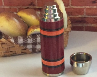 Miniature Thermos With Removable Top, Dollhouse Miniature, 1:12 Scale, Mini Thermos, Accessory, Decor