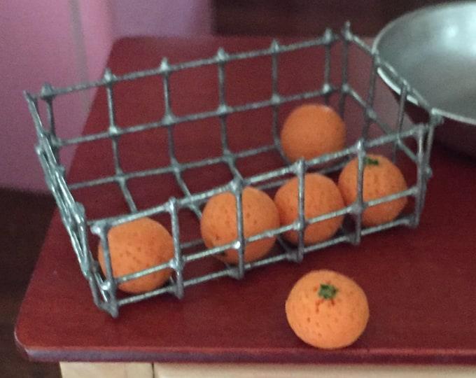 Miniature Oranges, Dollhouse 1:12 Scale Miniature, Dollhouse Food, Accessories, 6 Piece Set, Mini Food, Miniature Fruit