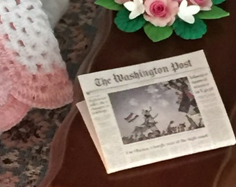 Miniature Post News Stand Edition, Vintage Newspapers, Dollhouse Miniatures, 1:12 Scale, Dollhouse Decor Accessory, Mini Paper