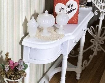 SALE Candy Dish Set, Dollhouse Miniatures, 1:12 Scale, Dollhouse Accessories, Decor, White Dishes, Dollhouse Decor, Crafts, Embellishment