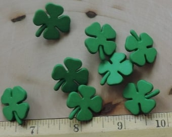 SALE Shamrock Buttons, Four Leaf Clover Buttons, Novelty Button Package by Buttons Galore, Style 4152, Irish, St Patricks Day, Themed Button