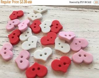 """SALE Heart Buttons, Packaged Assortment """"Sweet Hearts"""" Style #4325 by Buttons Galore, 2 Hole Buttons, Sewing, Crafting, Embellishments"""
