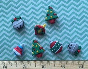 "SALE Christmas Ornament Buttons, Packaged Novelty Button Assortment ""Jingle Bells"" Style #4779 by Buttons Galore, Sewing, Crafting Embellish"