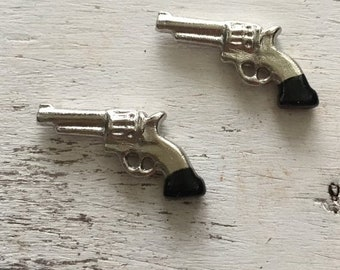 SALE Miniature Western Pistols, Packaged Set of 2 by Timeless Minis, Mini Guns, Miniature Guns, Set of 2