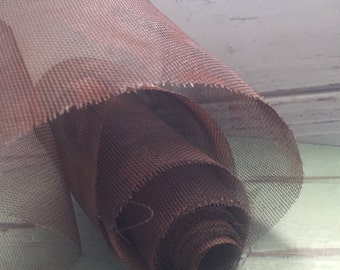 "Tin Wire Net Roll Rustic Accents Perfect for Craft Projects Primitives Packaged Roll 3.5"" x 60"""