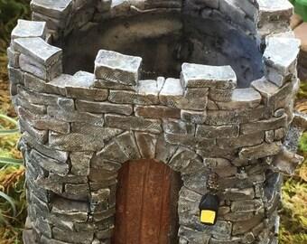 SALE Mini Castle, Fairy Castle, Miniature Gardening Castle, Planter, Fairy Garden Accessory, Home & Garden, Flower Pot, Miniature Gardening