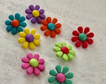 "SALE Flower Buttons, Packaged Button Assortment by Buttons Galore, ""Funky Flowers"" Style 4226, Shank Back Buttons, Embellishments"
