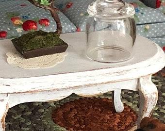 SALE Miniature Glass Jar, Gallon 1:12 Scale Dollhouse Miniature Jar With Lid, Dollhouse Accessory, Decor, Crafts, Mini Glass