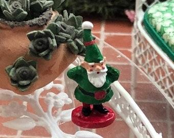 SALE Miniature Gnome, Mini Gnome Figurine, Dollhouse Decor, Dollhouse Miniature, 1:12 Scale, Dollhouse Accessory, Mini Home & Garden Decor