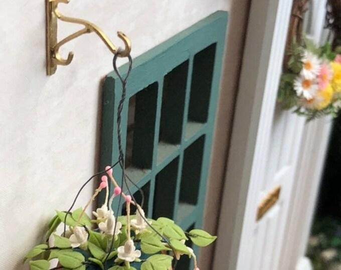 SALE Miniature Plant Hook, Metal Gold Wall Hook, Dollhouse Miniature, 1:12 Scale, Hook For Miniature Hanging Plants, Coat Hook, Dollhouse De