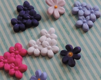 """SALE Violet Flower Buttons, Packaged Novelty Button Assortment, """"Violet Patch"""" Style #4163 by  Buttons Galore, Crafting, Sewing, Embellishme"""