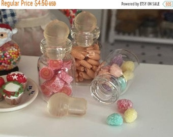 SALE Miniature Jar Filled with Frosted Bon Bons, Dollhouse Miniature, 1:12 Scale, Mini Food, Dollhouse Food, Accessory, Decor, Crafts