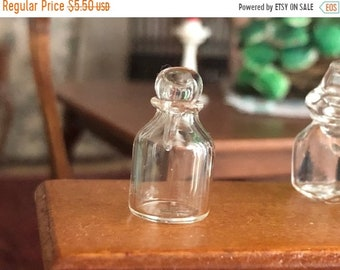 SALE Miniature Glass Decanter with Removable Top, Miniature Glass Bottle, Style 50,  Dollhouse Miniature, 1:12 Scale, Accessory, Decor, Craf