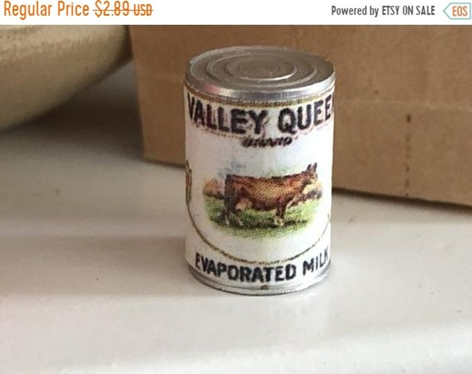 SALE Miniature Evaporated Milk Can, Dollhouse Miniature, 1:12 Scale, Dollhouse Mini Food Can, Mini Can, Dollhouse Accessory, Decor