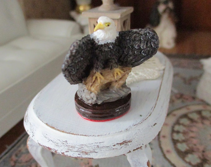 Miniature Eagle Figurine, Dollhouse Statue Figurine, Mini Eagle, Style #73, Dollhouse Miniature, 1:12 Scale, Dollhouse Decor, Accessory