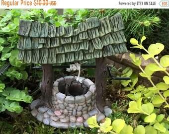 SALE Mini Wishing Well, Fairy Garden Accessory, Miniature Gardening, Garden Decor, Topper, Fiddlehead Mini Wishing Well