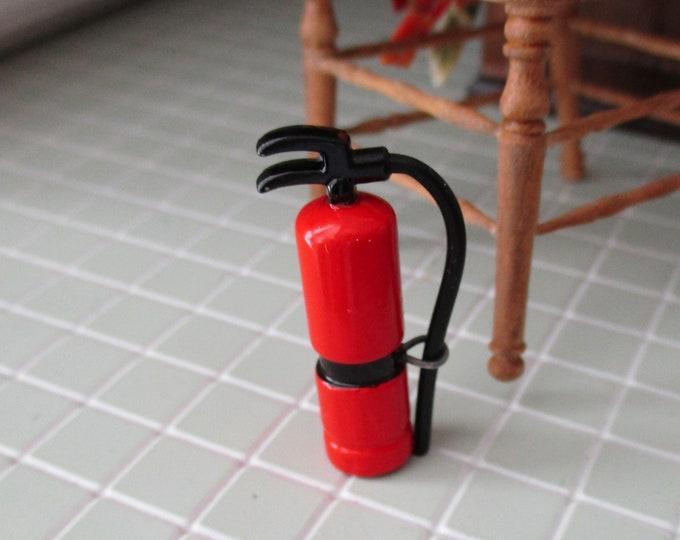 Miniature Fire Extinguisher, Mini Extinguisher, Style #32,  Dollhouse Miniature 1:12 Scale, Dollhouse Accessory, Decor