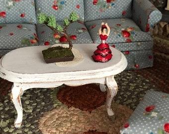 SALE Miniature Lady Figurine, Flamenco Dancer, Dollhouse Accessory, Decor, Dollhouse Miniature, 1:12 Scale, Crafts, Topper, Mini Lady Statue