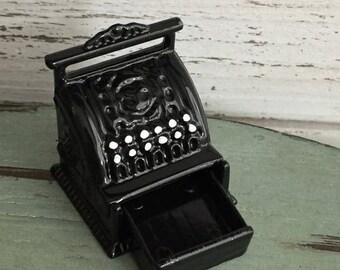 SALE Miniature Cash Register, Vintage Style Black Cash Register, Dollhouse Miniature, 1:12 Scale, Dollhouse Accessory, Mini Decor, General S