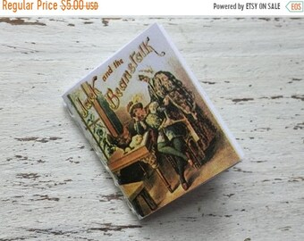 SALE Miniature Children's Book, Mini Jack Story Book, Readable Book with Illustrations,Dollhouse Miniature, 1:12 Scale, Mini Book with Text
