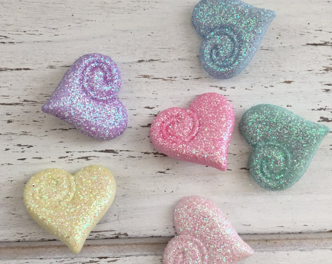 """Heart Buttons, Packaged Novelty Buttons, Assortment Pack """"Shimmering Hearts"""" by Buttons Galore, Fairy Tale Collection Style #4309"""