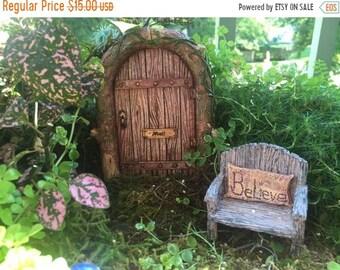 SALE Beautiful Mystical Fairy Door, Wood Look Door, Style 4247, Miniature Gardening, Fairy Garden Accessory, Home & Garden Decor