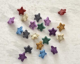 """SALE Star Buttons, """"Tiny Stars"""" #1602, Packaged Novelty Buttons, Assorted Colors, Style 1602 by Buttons Galore, Buttons, Crafts, Embellishme"""