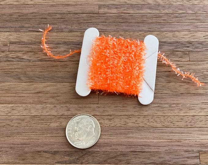 Miniature Tinsel Garland, Orange, 2 Yards, Dollhouse Miniature, 1:12 Scale, Dollhouse Accessory, Decor, Crafts