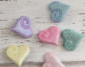 """SALE Heart Buttons, Packaged Novelty Buttons, Assortment Pack """"Shimmering Hearts"""" by Buttons Galore, Fairy Tale Collection Style #4309"""