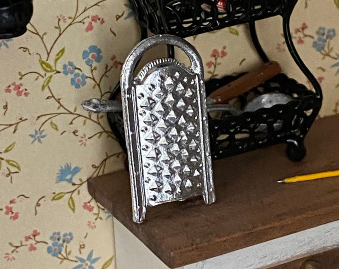 Miniature Cheese Grater, Dollhouse Utensil, Accessory, Dollhouse Miniature, 1:12 Scale