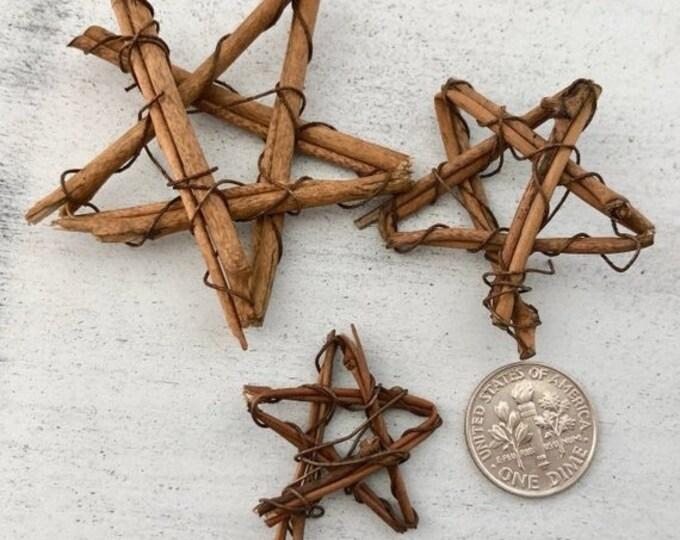 SALE Miniature Vine Stars, Mini Stars Wreaths, Set of 3 Sizes, Dollhouse Decor, Floral, Crafts, Embellishment