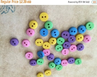 "SALE Tiny Round Buttons, Packaged Assortment by Buttons Galore, 2 Hole ""Garden"", 2 Hole Round Buttons Style 1570, Sewing, Crafting Embellish"