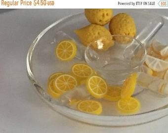 SALE Miniature Lemon Slices, 12 Pieces, Dollhouse Miniature Food, 1:12 Scale, Dollhouse Accessories, Decor, Mini Fruit, Pretend Food