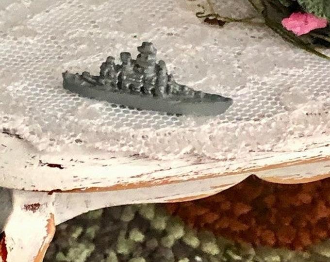 SALE Miniature Navy Ship, Mini Toy Navy Ship, Dollhouse Miniature, 1:12 Scale, Dollhouse Accessory, Decor, Crafts