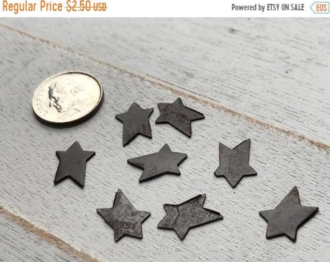 SALE Miniature Tin Stars, Packaged Set of 8 Pieces, Rusty Look Mini Stars