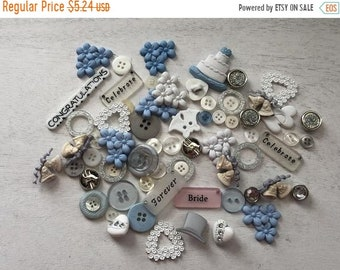 """SALE Wedding Buttons, Novelty Buttons Assortment Package, """"Wedding"""" Style VP321, by Buttons Galore, Sew On, Flat Backs and Shank Back Assort"""