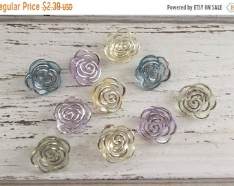 """SALE Rose Buttons, Packaged Novelty Button Assortment, """"Bridal Bouquet"""" Style 4418 by Buttons Galore, Sewing, Crafting Embellishments, Butto"""
