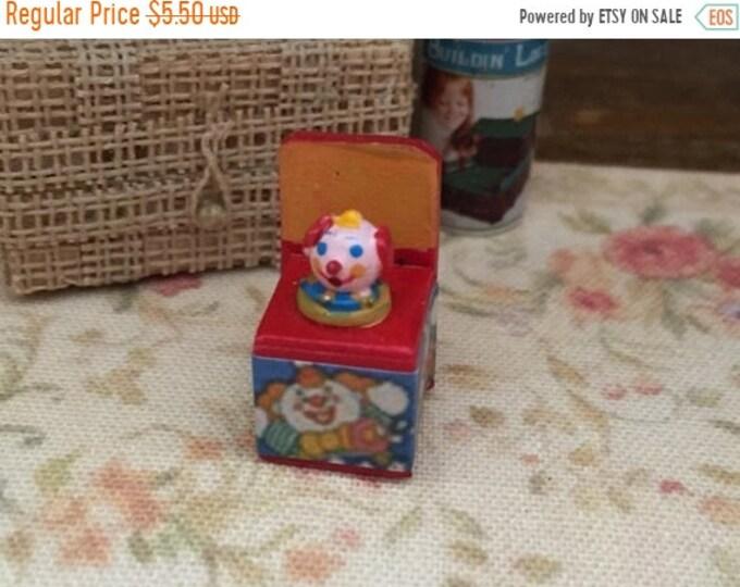 SALE Miniature Jack in Box, Mini Toy, Dollhouse Miniature, 1:12 Scale, Dollhouse Accessory, Decor, Crafts, Topper