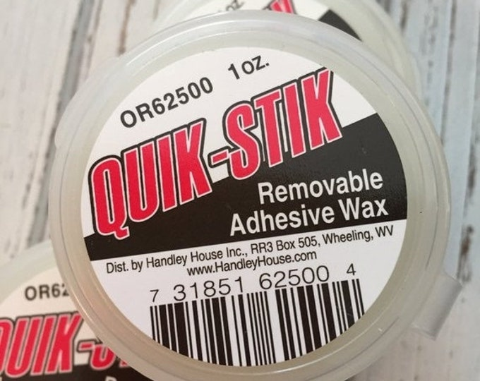 SALE Quik Stik Removable Adhesive Wax, Wax For Dollhouse Miniatures, Adhesive for Miniatures, Holds Dollhouse Miniatures in Place for Displa