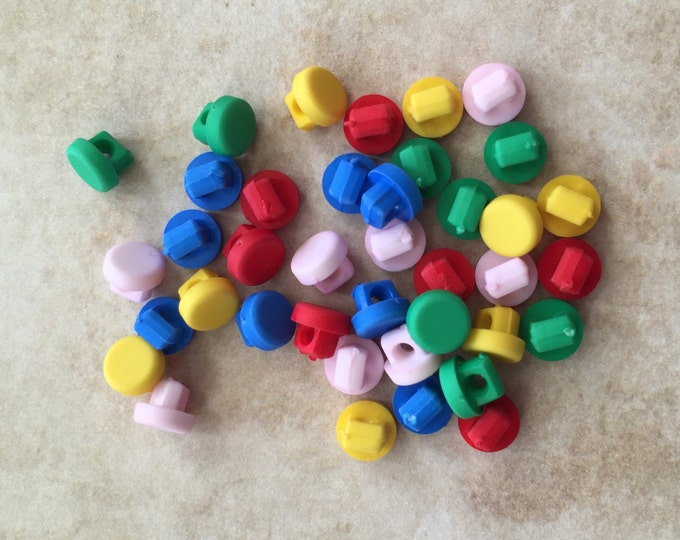 Tiny Round Buttons, Primary Colors, Packaged Assortment by Buttons Galore, Sewing, Crafting, Cardigan Buttons, Embellishments