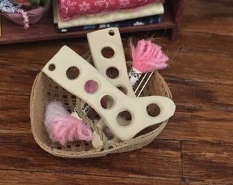 Miniature Sock Stretchers, Dollhouse Miniature, 1:12 Scale, Dollhouse Accessory, Mini Knitting, Sock Stretchers, Crafts, Decor